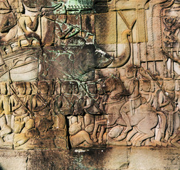 Carving in Angkor