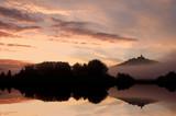 Fototapety Die Wachsenburg bei Sonnenaufgang