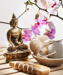 Buddha at spa for relaxation and harmony