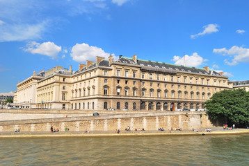 Paris. Beautiful Seine embankment