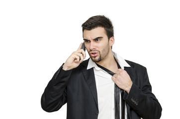 Businessman Discomfort