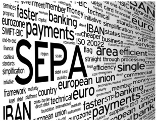 """SEPA"" Tag Cloud (money transfer payment transaction euro)"