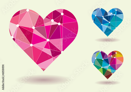 Abstract Heart Shape Colorful Vector Illustration