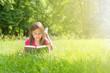 Reading Book in glowing sunlight