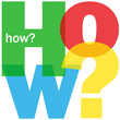 """""""HOW?"""" Letter Collage (user manual guide questions help support)"""
