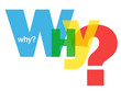 """WHY?"" Letter Collage (questions explanations help support how)"