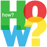 """HOW?"" Letter Collage (user manual guide questions help support)"
