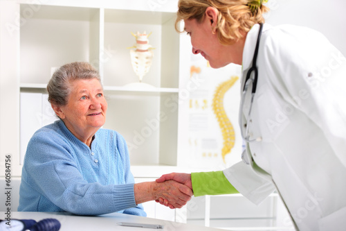 Senior woman visiting a doctor