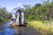 Leinwanddruck Bild - Airboat and Everglades