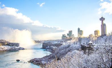 Niagara Falls in winter,Canada