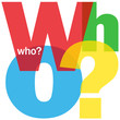 """WHO?"" Letter Collage (questions help support contact us)"