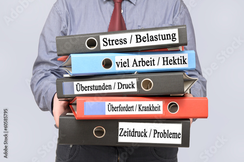 Leinwandbild Motiv Stress Belastung