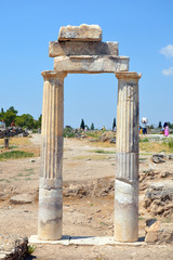 The columns in the Doric style 4