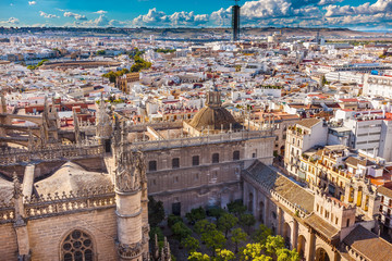 City View from Giralda Tower Seville Cathedral