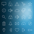 Set of modern web icons