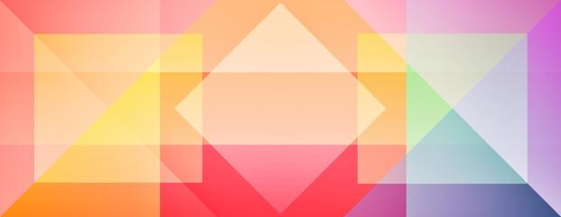 Panoramic retro flat design geometric pattern banner