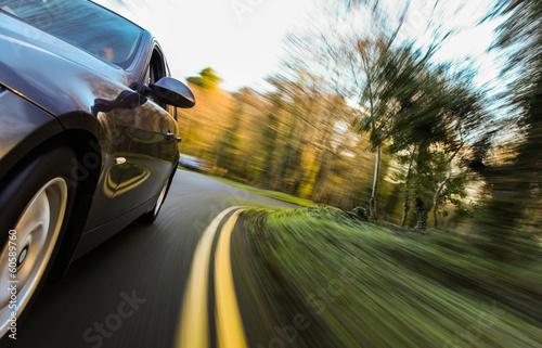 Fast driving car.