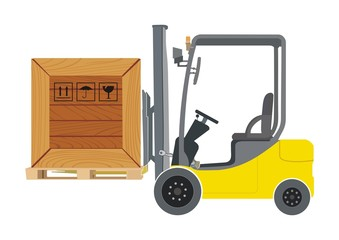 Forklift and container illustration