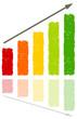 Farbe Chart Pfeil