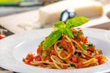 Whole Wheat Spaghetti with Tomato Sauce