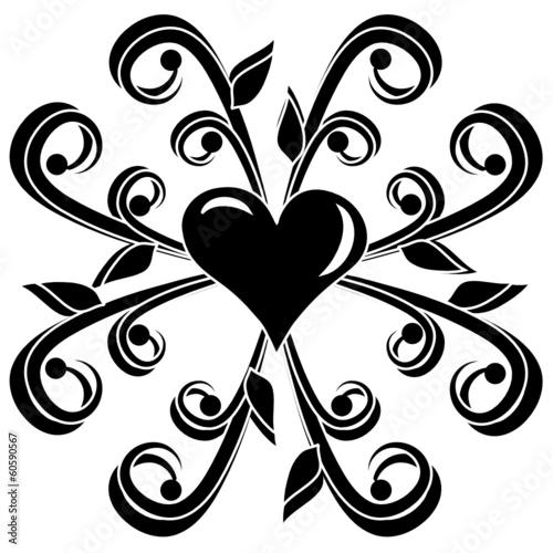 Herz auf Muster