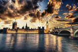 Fototapety Beautiful view of Westminster by night
