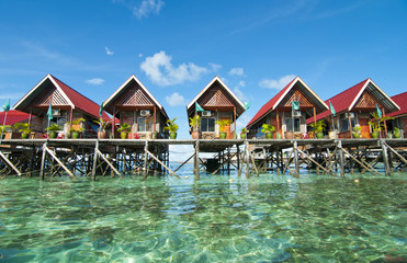 awesome view of mabul island budget lodge
