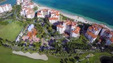 Aerial video footage of Fisher Island Miami Beach