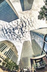 Skyscrapers in Canary Warf, London.