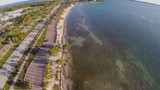 Aerial footage of Key Biscayne Florida
