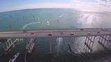 Aerial footage of Key Biscayne Bridge