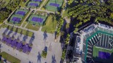 Aerial footage of a tennis center