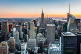 Fototapeta Nowy Jork - New York Skyline at sunset © mandritoiu