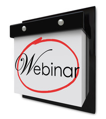 Webinar Calendar Day Date Reminder Online Seminar Learning Sessi