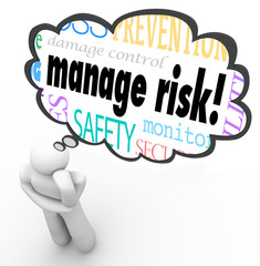Manage Risk Thinker Thought Cloud Limiting Loss Liability