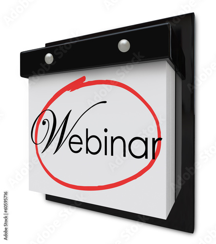 Webinar Calendar Day Date Reminder Online Seminar Learning Sessi