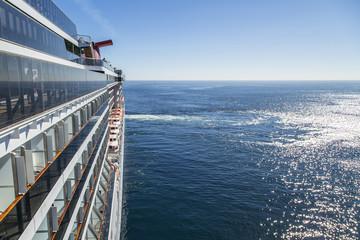 Luxury cruise ship at sea