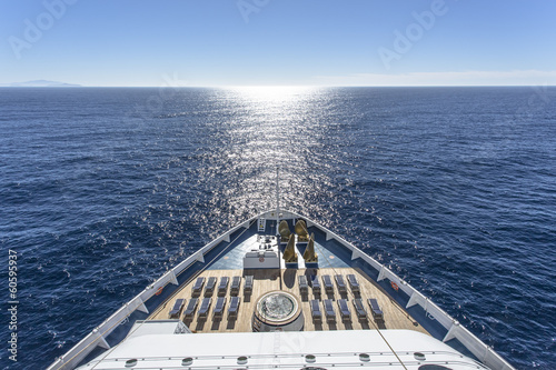 Luxury cruise ship at sea - 60595937