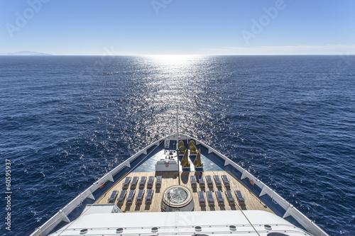 Leinwandbild Motiv Luxury cruise ship at sea
