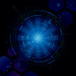 Abstract technology dark blue background.
