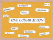 Home Construction Corkboard Word Concept