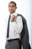 Handsome hispanic hunk businessman