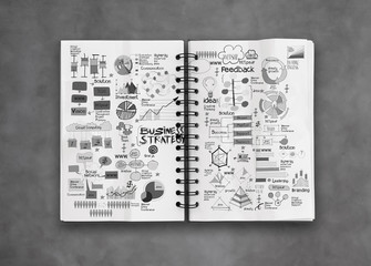 book of success business  and strategy as concept