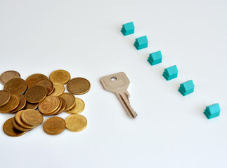Key with houses