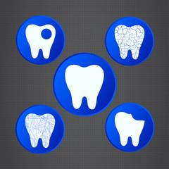 Dental symbols.  Medical icons.
