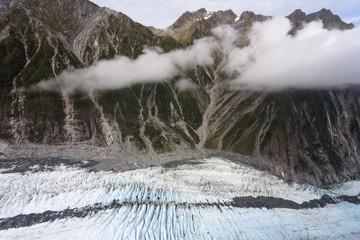 Franz Josef Glacier from top view, New zealand