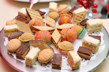Diversity of dessert pastry