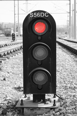 abstract railroad warning signal