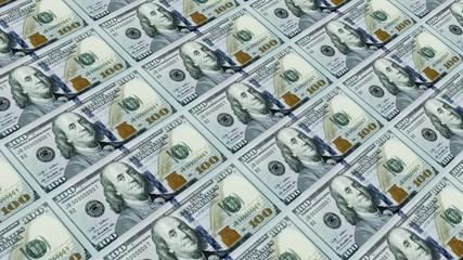 Printing Money ,100 dollar bills