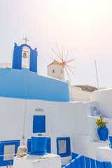 dome church in Santorini Greece